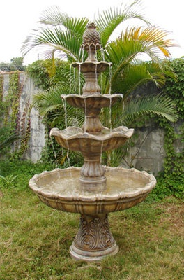 High Quality 4 Tier Grand Courtyard Outdoor Water Fountain #sylink Got This One Up On A