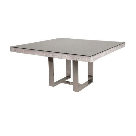 Native Dining Square Dining Table-White Wash