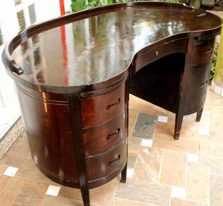 Rara E Antiga Escrivaninha Modelo Feijão Anos 50 P/ Retirada - R$ 2.250,00 no MercadoLivre