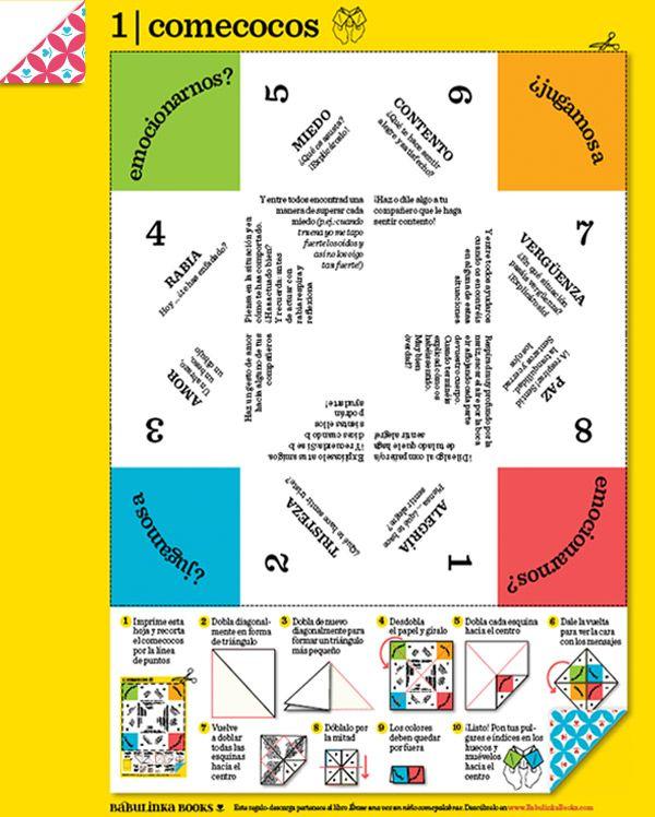 Un juego de papiroflexia para hacer en casa y, una vez montado, jugar a trabajar las emociones y a expresarlas de manera muuuuy divertida. Para jugar con amigos, padres y madres, hermanos, en la escuela… ¡Con todo el mundo! Un material creado por la editorial Babulinka Books