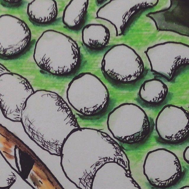 #Метроскетч Горошины :) Кусочек. #детали  #гелевые_ручки #вода #линер #water #watercolorpens #ArtRage #gelpens #liner