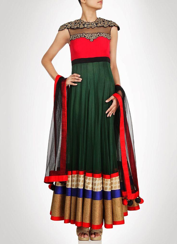 Magnificent Ankle Length #Anarkali Suit
