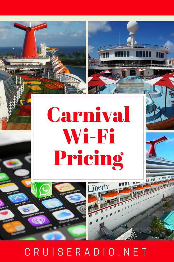 Carnival Cruise Line WiFi Prices and Plans Detailed | Carnival