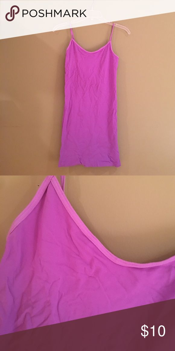 Purple Cami Intimate Dress Spandex material. Tight fit. Same as free People intimates except it's See You Monday brand. Use free people for exposure. No trades Free People Dresses