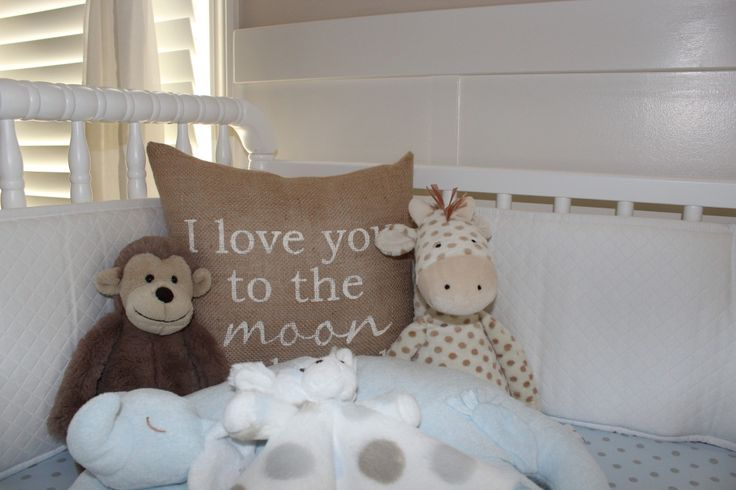 "Adorable kids pillow - ""I Love You to the Moon"""