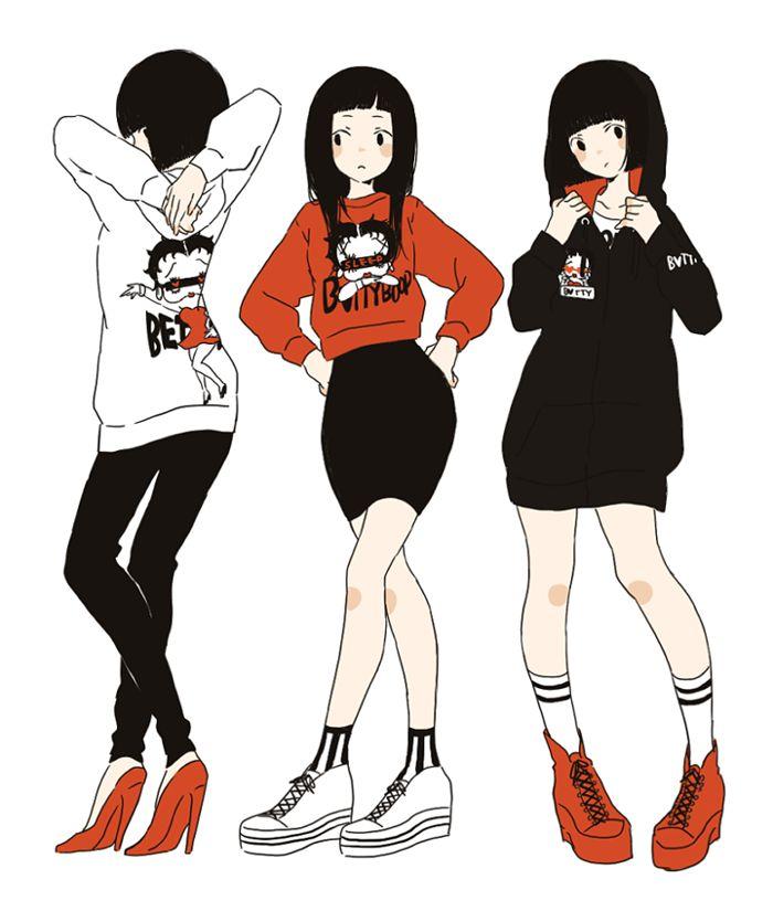 Japanese Anime Hairstyles: Art Cute Fashion Anime Kawaii Grunge Pastel Japanese