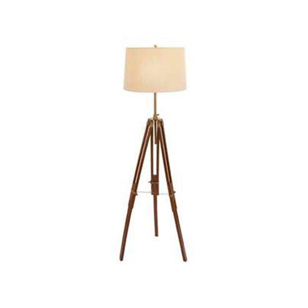 Delano Wood And Metal Tripod Lamp