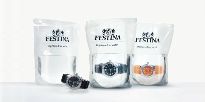 """Festina Fortuna Watches - Waterproof Divers Watch Packaged in Water - No doubt about their water""""proof"""" claims!"""