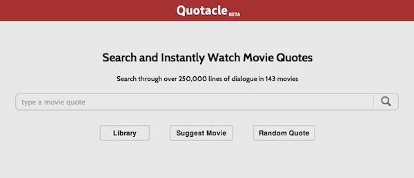 #Quotacle, un sitio web que ofrece citas de películas en formato #GIF