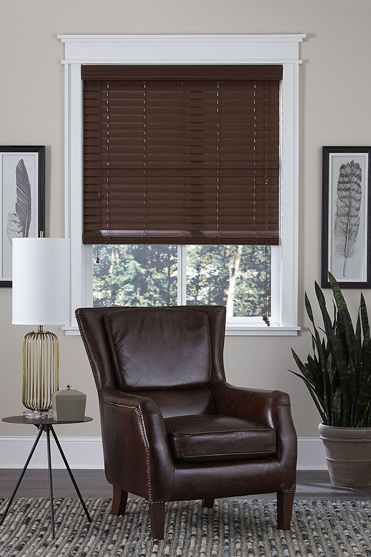 Choose From 100s Of Colors To Match Blinds To Wood Floors Furniture Or Other Decor Fauxw Curtains Living Room Window Treatments Living Room Living Room Wood