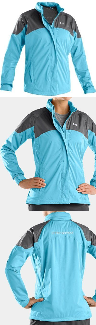 Under Armour Women's UA Ultimate Rain Jacket (Medium tobago/graphite/aluminum) - Wind, rain, heat, whatever. The Women's Ultimate Rain Jacket lets you play through just about anything thanks to an impenetrable Durable Water Repellent (DWR) finish and fully sealed seams. But this r... - Outerwear - Apparel - $149.99