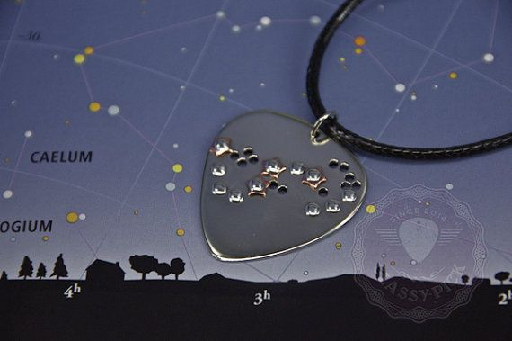 Constellation of the Scorpio zodiac guitar pick by AmulettaHu
