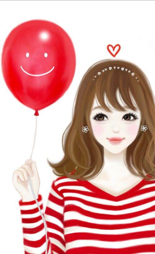 """Menina com balão """"sorrindo"""""""