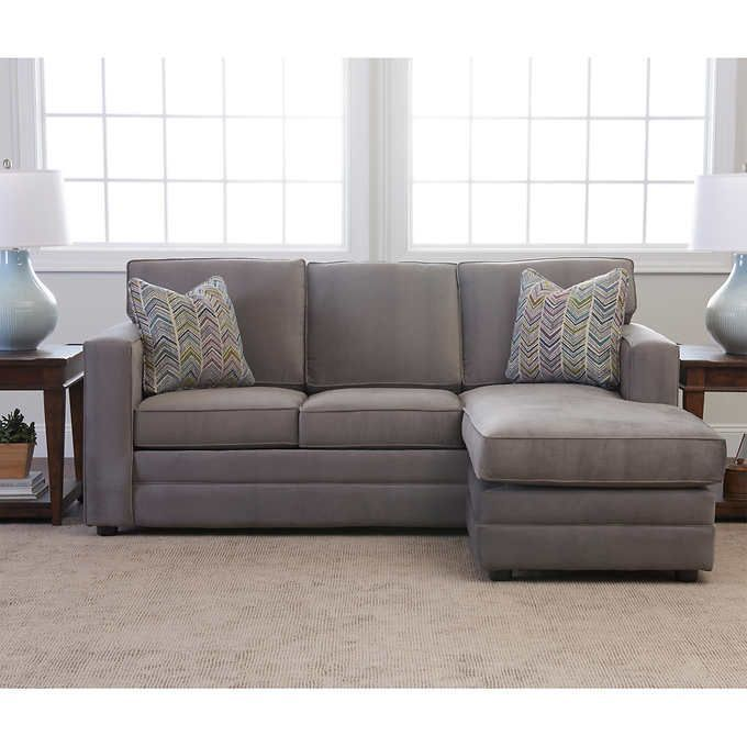 Beeson Fabric Queen Sleeper Reversible Sectional Family