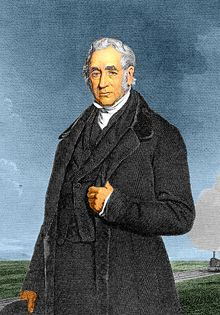 George Stephenson ♦ Inventor. He designed the famous and historically important steam-powered locomotive named Rocket, and is known as the father of British steam railways.