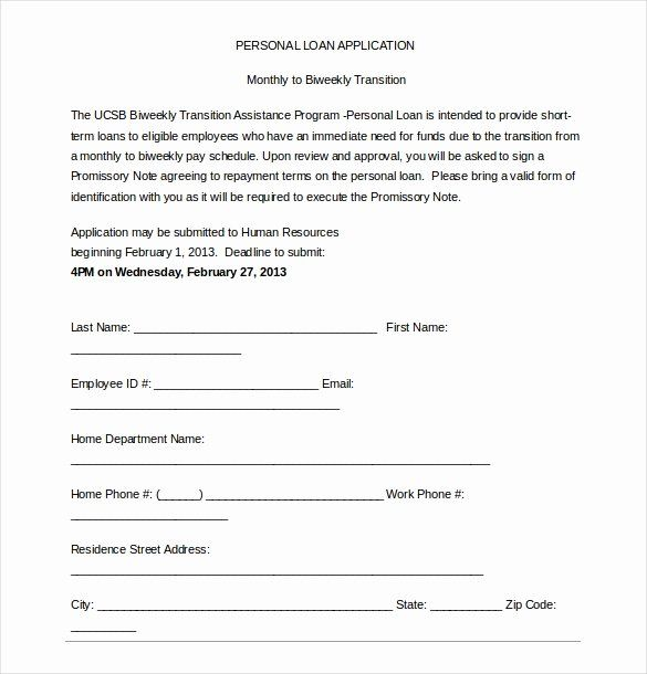 Personal Loan Application Form Template Elegant 15 Loan Application Templates Free Sample Example Loan Application Personal Loans Loan