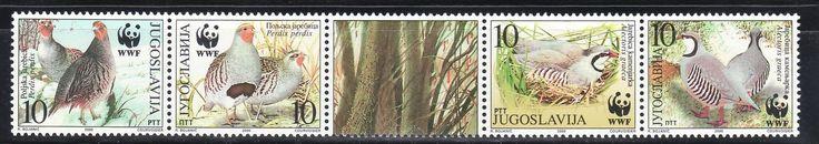 SELLOS TEMA WWF YUGOSLAVIA 2000 Nº 2815/18 AVES PERDIZ 4v.   eBay