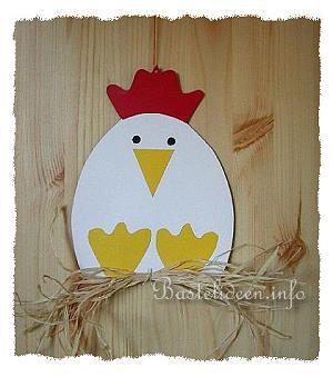 Kinderbasteln – Basteln zu Ostern – Henne Fensterb…