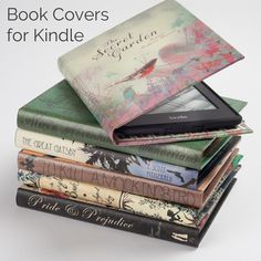 Kindle Cover for Amazon eReader and Tablet in Book Styles by KleverCase I soooo want this