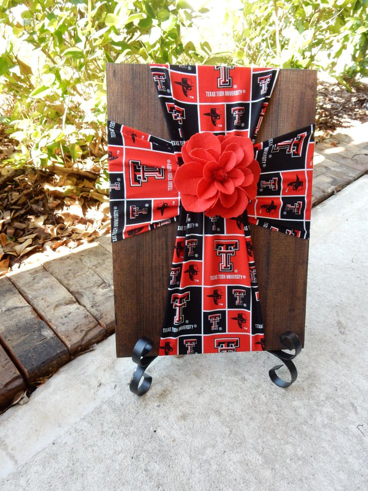 Texas Tech Cross.Texas Tech University.Tech.Red Raiders.Wreck Em Tech.Texas Tech Gift.Graduation Gift.Red and Black.College.Texas.Raiders by FabricCrossDecor on Etsy