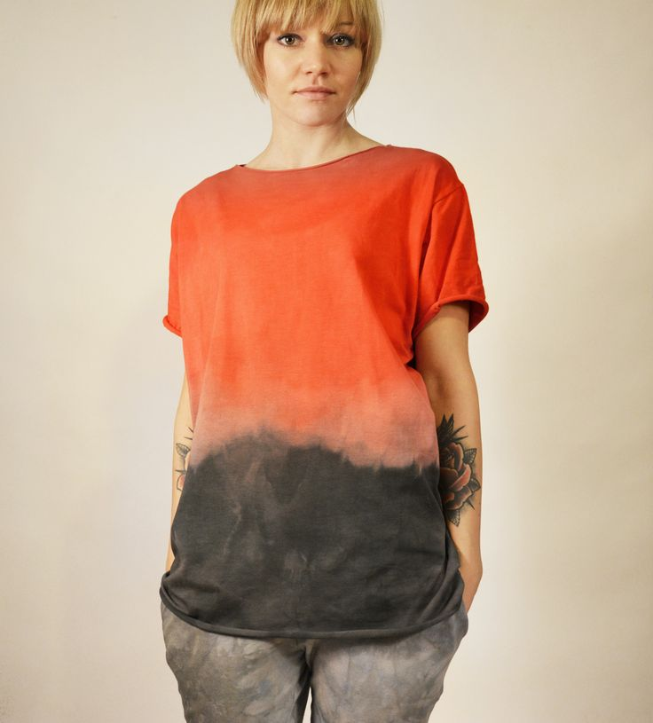 hand dyed unique t-shirt by goshko