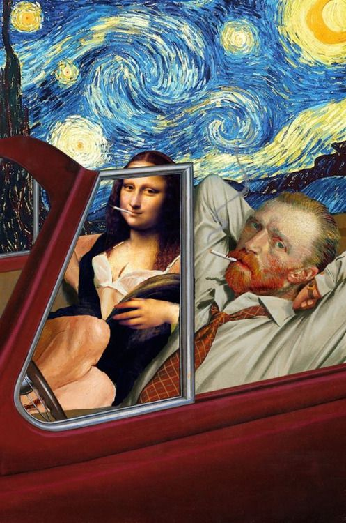 Funny Collages by Barry KiteBarry Kite is an American artist who diverts the famous masterpieces of classical painting to create funny compositions featuring the Mona Lisa, Vincent van Gogh or the Girl with a pearl. Between visual sampling, repositioning and parody, the collages of Barry Kite create an unlikely encounter between art history and Internet memes, exploring the modern and unbridled exploitation of images in our contemporary societies. Barry Kite's creations are available on the…