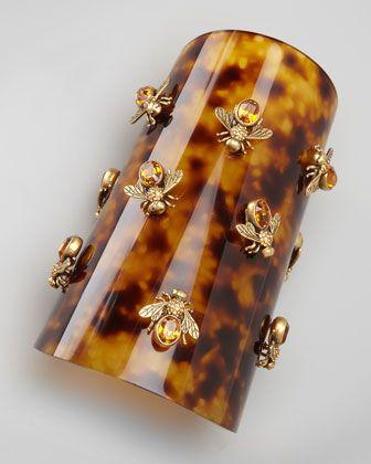 Alexander McQueen Bumblebee Tortoise Cuff - Neiman Marcus
