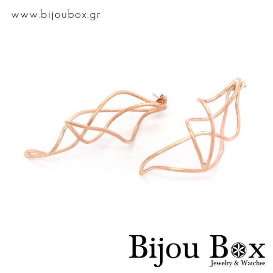 Earrings from rose gold plated bronze wire Σκουλαρίκια από ροζ επίχρυσο σύρμα μπρούτζου Check out now... www.bijoubox.gr #BijouBox #Earrings #Σκουλαρίκια #Handmade #Χειροποίητο #Greece #Ελλάδα #Greek #Κοσμήματα #MadeinGreece #RedGold #jwlr #Jewelry #Fashion