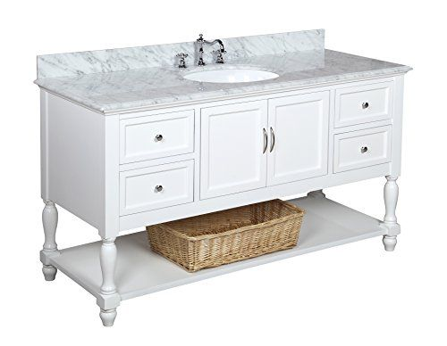 Beverly 60 Inch Single Sink Bathroom Vanity Carrara White Includes A White Cabinet With Soft