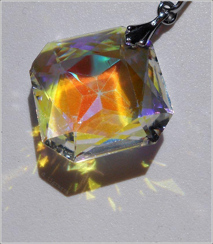 Thrifted Swarovski pendant.