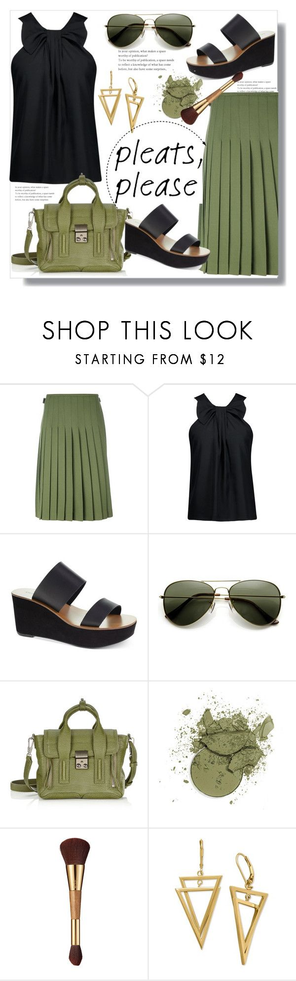 """Give Me Pleats, Please!"" by queenvirgo ❤ liked on Polyvore featuring Le Kilt, Raoul, Chinese Laundry, 3.1 Phillip Lim and tarte"