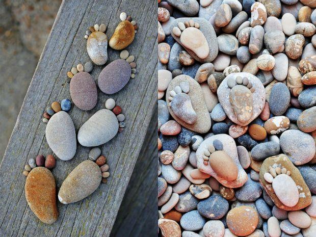 Cottage??: Cute Ideas, Footprint Stones, Pebble Feet, Cottages, House, Garden, Craft Ideas, Crafty Ideas