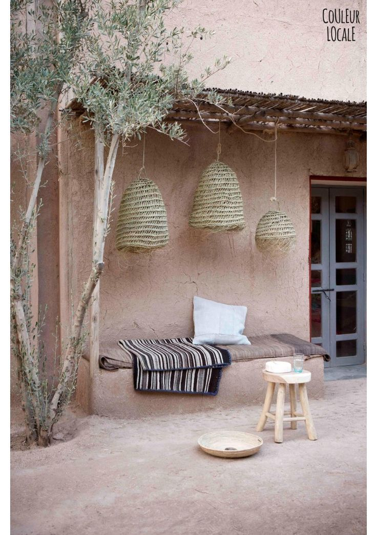 Natural Hanging lamp with fringes - Light