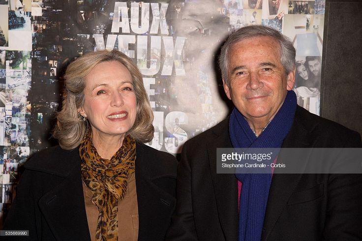 Arielle Semenoff (L) and Alain Doutey attend the Premiere of Aux Yeux de Tous in Paris.