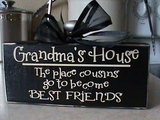 Grandmas house -- where cousins go to become BEST FRIENDS! Adorable!