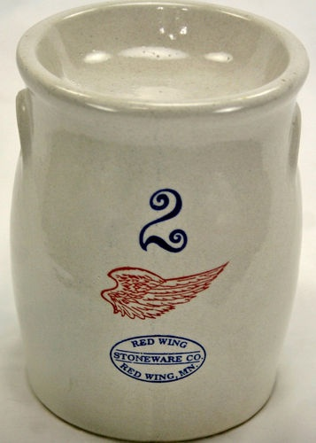 Red Wing Stoneware Miniature Butter Churn #2 Tea Light Scent Candle Tart Warmer Pottery Crock