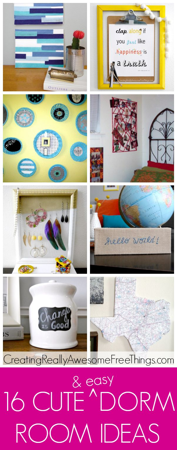 Cute dorm room ideas. @hpfan68 These could be something crafty you could do on your lazy weekends!