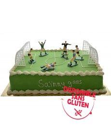 Gâteau d'anniversaire terrain de football