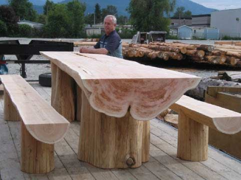 luxury log tables. a division of fine log building co.   – Selbstgemachte Möbel