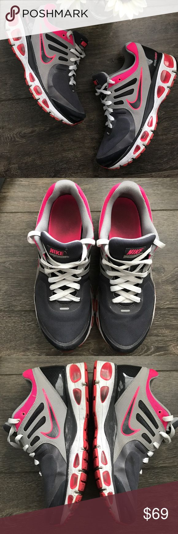 Nike Air Tailwind +2 sneakers in pink & grey GUC - show signs of wear on inner soles, outer and bottoms, but no rips, tears or major issues, still lots of wear left Nike Shoes Athletic Shoes