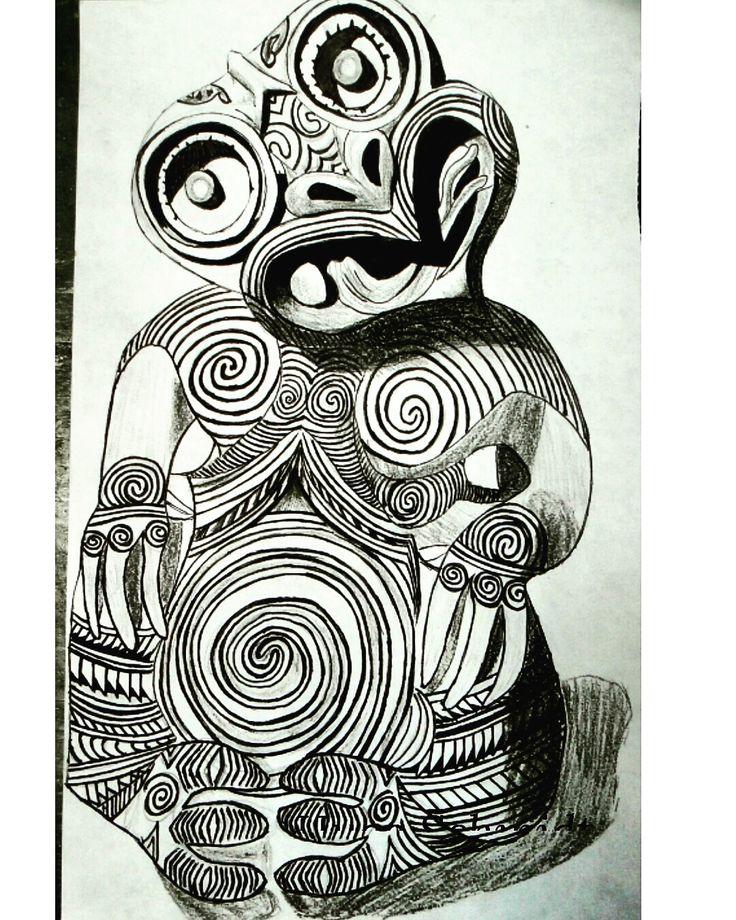Fala Nação Tribal, hoje fiz um desenho de tatuagem tribal é o hei-Tiki Maori, na cultura maori e polinésia ele representa o encanto da fertilidade. Mais desenhos maoris pra vocês!!