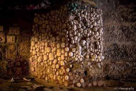 Hobart Rivulet: Doll Heads Adorn Pillars in Tasmanian Tunnels