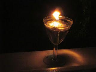 Raccontare un paese: Dal mio tavolo: come fare un lume ad olio a costo ...
