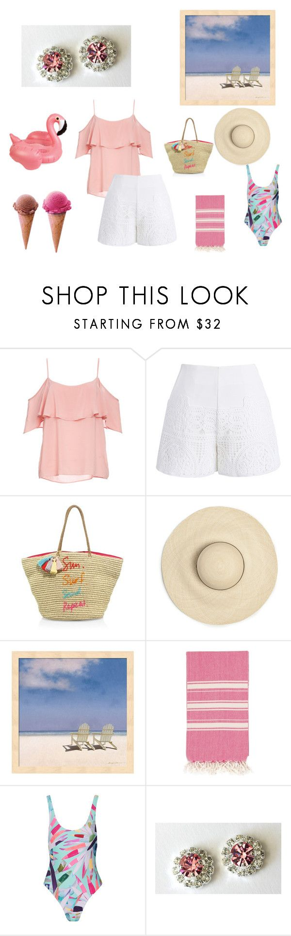 """Summer in Pink"" by artistinjewelry ❤ liked on Polyvore featuring BB Dakota, Chicwish, Rebecca Minkoff, Mara Hoffman, etsy, jewelry and stud"