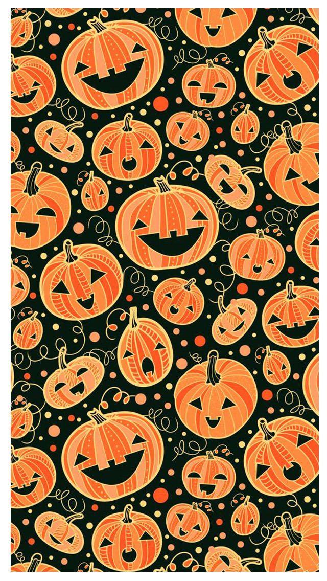 Happy Pumpkins Halloween Mobile Wallpaper Halloween Halloweenwallpaper Fall Wallpaper Cute Fall Wallpaper Halloween Wallpaper Iphone