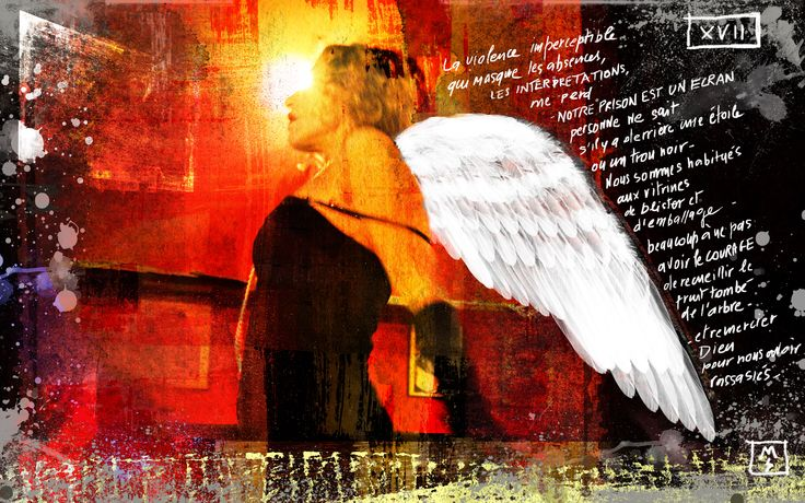Arcane 17 - L'étoile Digital painting and poetry © Monica Seksich