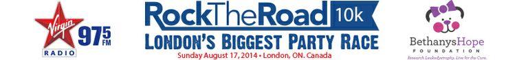 Virgin Radio's Rock the Road 10K – London Ontario. Canada. Sunday August 17th, 2014
