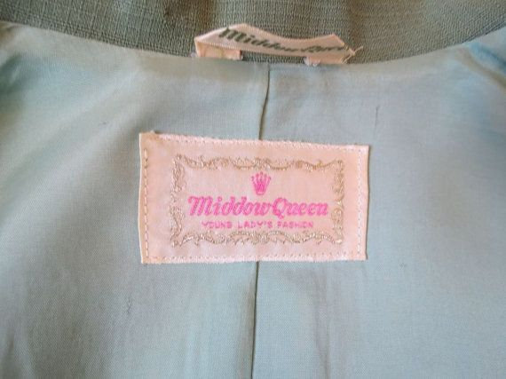 #middowqueen - label on a 1960s coat.