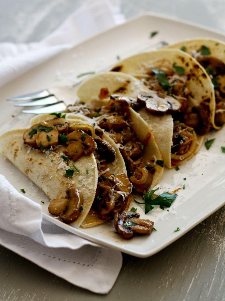 Mushroom Onion Tacos | Mushroom Info - Mushroom Lovers' Earth Day Recipe #5