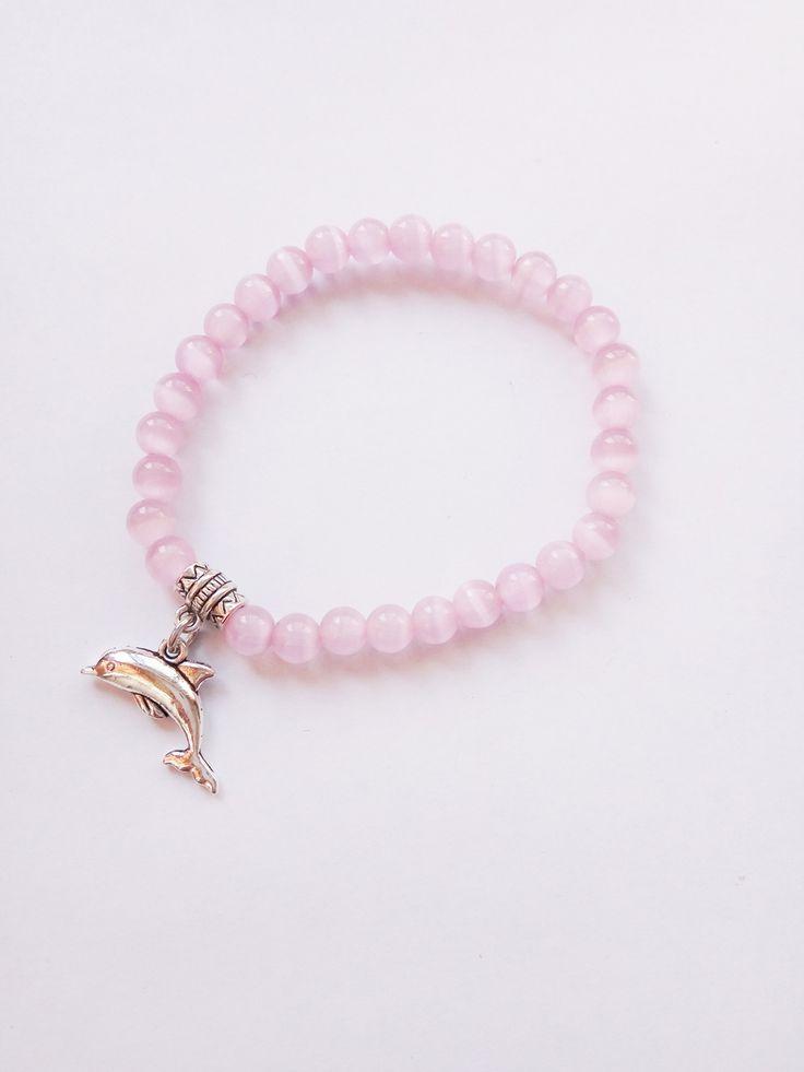 New Style 6 MM Light Pink Frisada Pulseira Com Golfinho Bonito, Desgaste diário Pulseira Para Senhoras em Chain & Ligação Pulseiras de Jóias & Acessórios no AliExpress.com | Alibaba Group